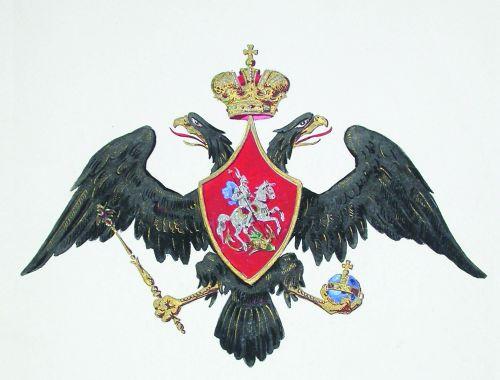 Государственный герб, предназначенный для военных целей с 1801 по 1825 гг.