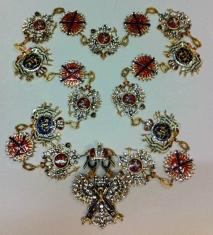 Цепь ордена Святого Андрея Первозванного (с хрусталём swarovski)