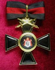 Крест ордена Святого Владимира 1 ст. (с верхними мечами,чёрной эмали)