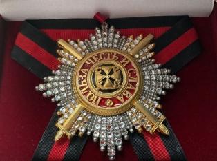 Звезда ордена Святого Владимира (с мечами, с хрусталем swarovski)