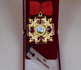 Крест ордена Святого Александра Невского средний (с опущенными крыльями у орлов)