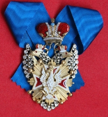 Крест орден Белого орла шейный (с хрусталем swarovski)