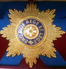 Звезда ордена Белого орла бриллиантовой огранки (гранёная)