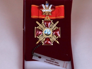 Крест орден Святой Анны 1 ст. (с мечами, с короной)