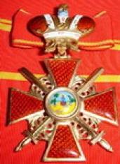 Крест орден Святой Анны 2 ст. (с мечами, с короной)