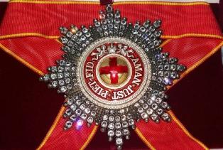Звезда ордена Святой Анны (с хрусталем)