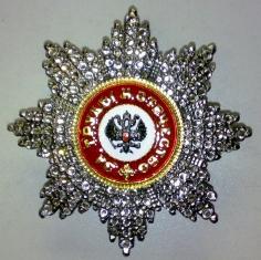 Звезда ордена Святого Александра Невского (с хрусталем swarovski) Иноверцы