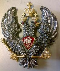 Герб Российской Империи (Петровский) (Сваровский) (с хрусталём Swarovski)