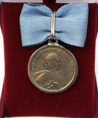 Медаль За победу под Лесной учр. 1708 г.