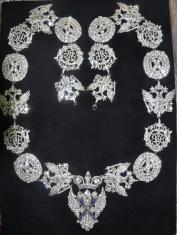 Цепь ордена Святого Андрея Первозванного Вариант 3 (с хрусталём swarovski)