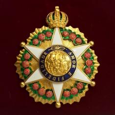Рыцарский орден Розы. Звезда 2-го класса. (Бразильская империя)