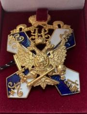 Знак для окончивших 2-й кадетский Императора Петра Великого корпус в Санкт-Петербурге