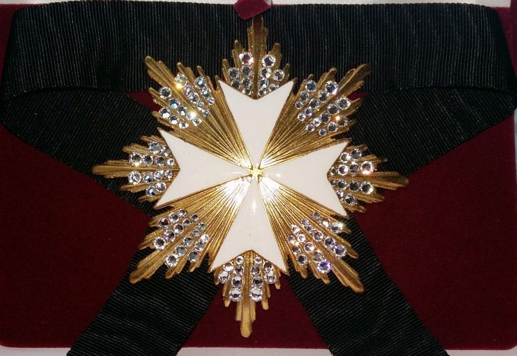 Звезда ордена Святого Иоанна Иерусалимского мальтийская