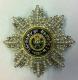 Звезда ордена Святого Андрея Первозванного (с хрусталём и жемчугом swarovski)