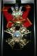 Крест ордена Святой Анны 2 ст.(с верхними мечами, с короной, чёрной эмали)