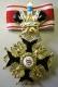 Крест  ордена Святого Станислава 2 ст. (с короной, чёрной эмали)