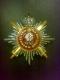 Звезда ордена Святой Екатерины Лучевая с мечами, короной, (с хрусталем swarovski)