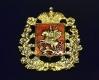 Герб Московской губернии (с хрусталём Swarovski) - значок